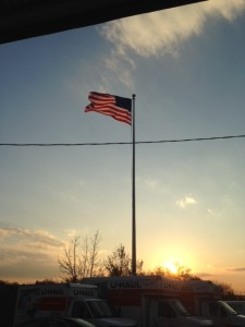 New US flag provided by Knights of Columbus